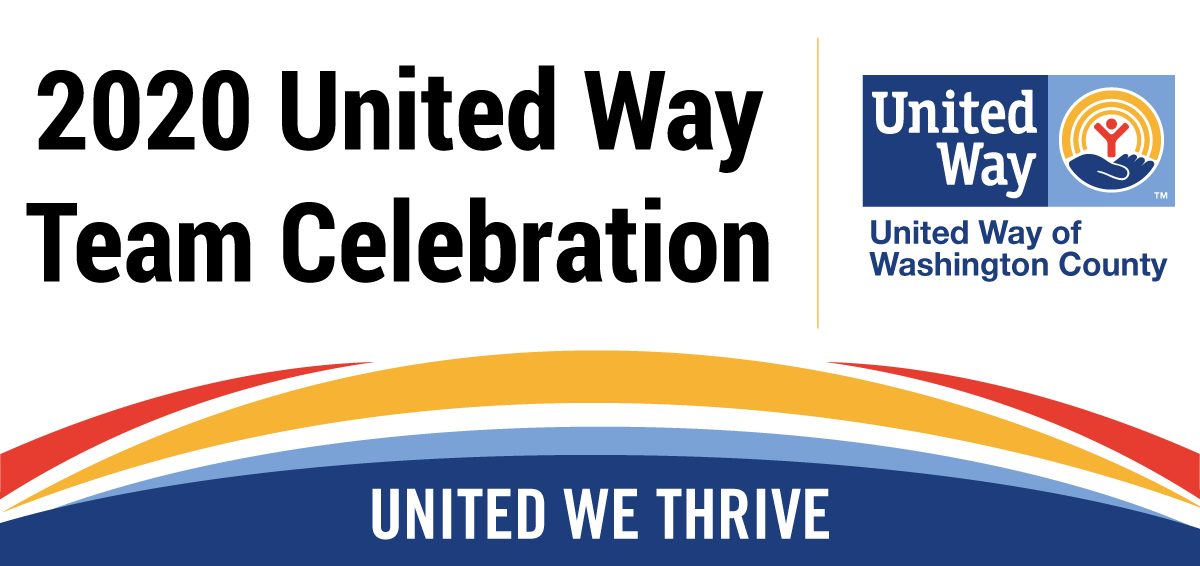 Image of the United Way logo and text that says 2020 United Way Team Celebration